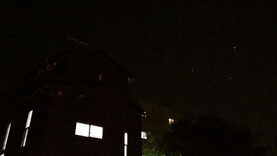 Stars Night Lights Night Sky Triangle 5/12 Kyoto