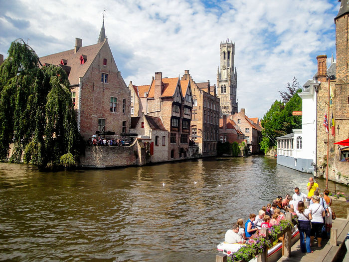 Belgium Brugge Brugge, Belgium Vacations Travelling Tourism Medieval City Medieval City Europe Clear Sky Architecture Travel Destinations Water Travel Architecture River Cloud - Sky City Built Structure Urban Skyline Outdoors Watercity