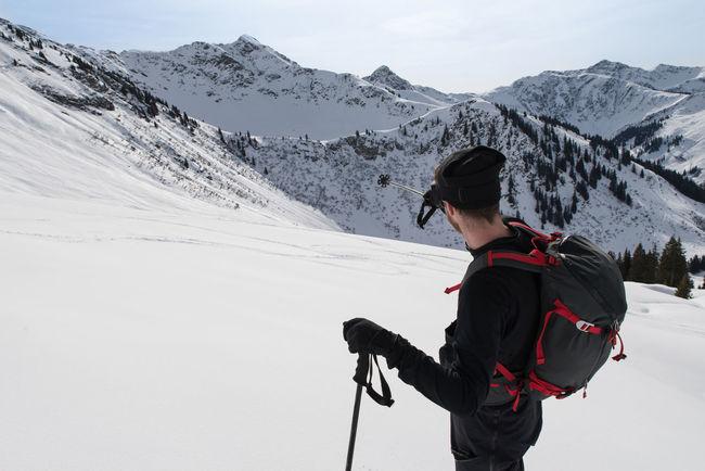 ski touring guide at work Austria Backcountry Hanging Out Hiking Idyllic Lonely Mountain Mountains Nature Powder Ski Touring Skier Skiing Snow Weißkopfkogel Winter Wintersports