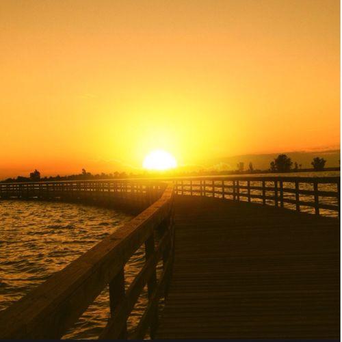 Lake Sunset Taking Photos relaxing