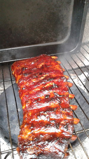 smokerd Spareribs Barbecue Barbecue Grill Day Food Freshness Glazed Food Gourmet Grilled Lunch Marinated Meat No People Outdoors Pork Preparation  Rib Roasted Smoked Summer Visual Feast