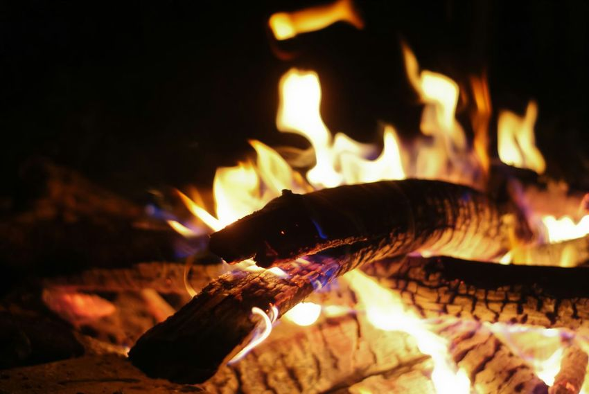 Fire Burn Camping Night Nightphotography The Purist (no Edit, No Filter) Orange By Motorola