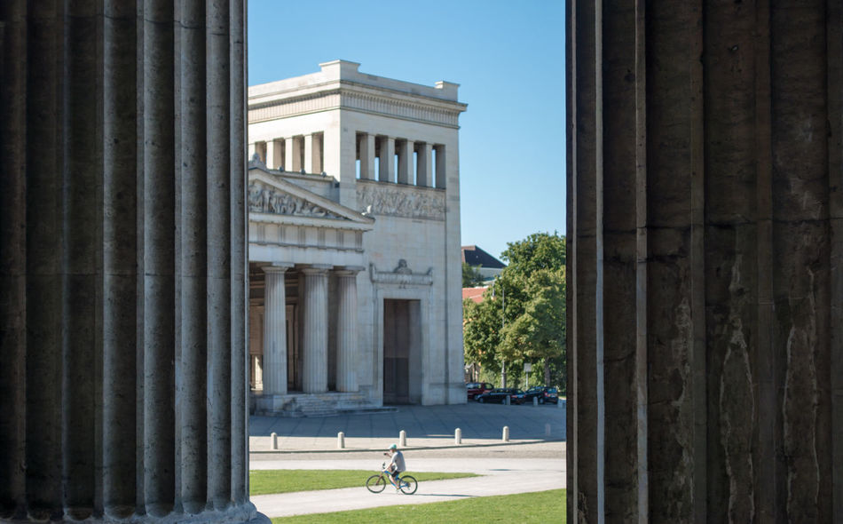 Architectural Column Architecture Building Exterior Building Story Built Structure City Life City Life Colonnade Façade Famous Place Full Length Historic History In Front Of Königsplatz Pillars Propyläen Sunny Säulen Tall - High