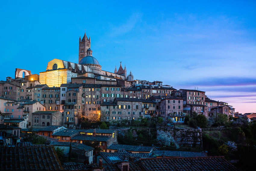 Ancient Architecture Architecture Building Exterior Business Finance And Industry City City Cityscape Europe Façade Illuminated Landmarks Night No People Old Outdoors Palio Romantic Sky Tourism Travel Travel Destinations Tuscany Winery