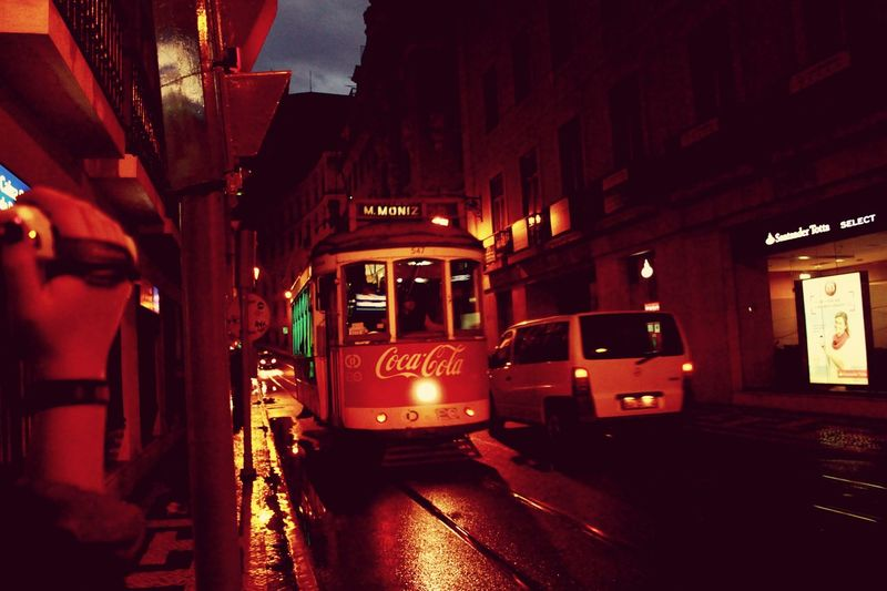 Lisbon Night Lights Nightlife Lights Tram City Citylife Citylight 🚋