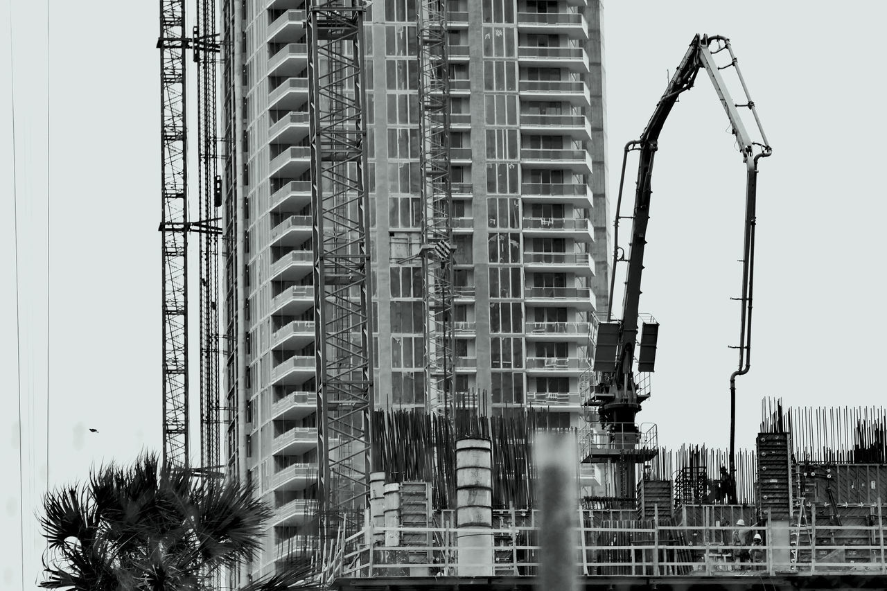 Exterior Of Building Against Sky At Construction Site