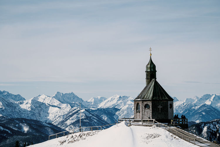 Church against sky during winter
