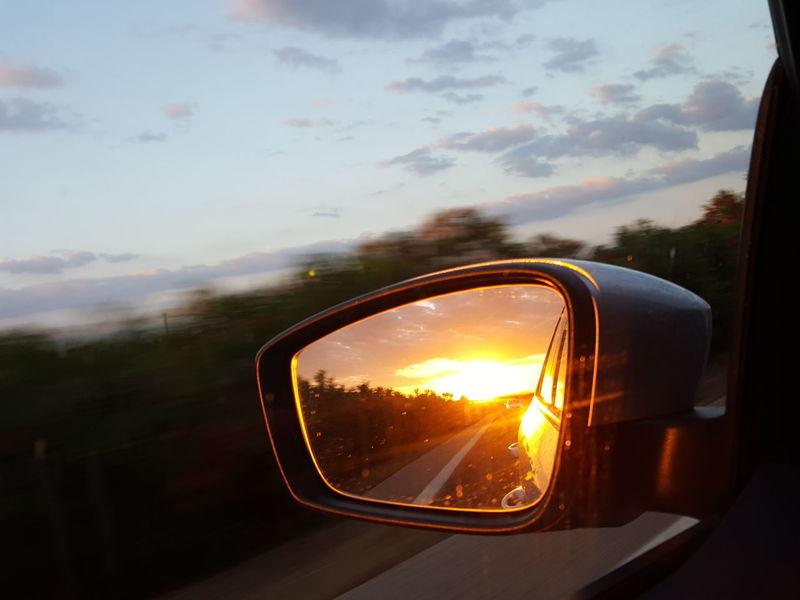 Side Mirror Side Mirror View Side Mirror Shot Sun In The Side Mirror Sunrise Mirror Reflection Mirror Sunrise Morning Sun Morning Drive Traveling Car Travel Happy Feeling Sunset Sun Car Sunlight Reflection Side-view Mirror Vehicle Mirror Car Point Of View Streaming Road Trip Sunbeam Scenics Shining