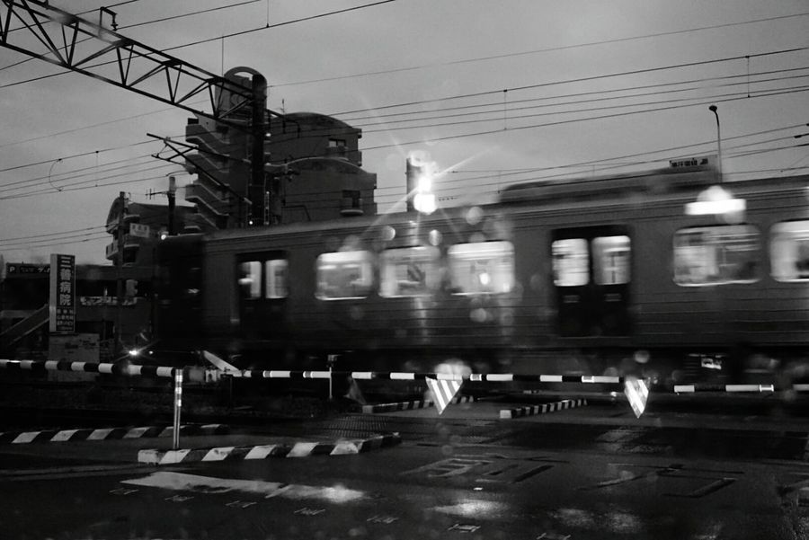 In Japan Train Rany Day Morning Light Black And White Photography Monochrome