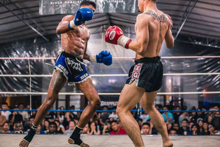 Alvin Vs. Ian (IX) Sport Competition Athlete Determination Adult Men Vitality Motion Strength Competitive Sport Sportsman Healthy Lifestyle Clothing Two People Exercising Muscular Build People Full Length Shirtless Challenge Effort Fight Fighters Fighting Muay Thai Fit Fitness