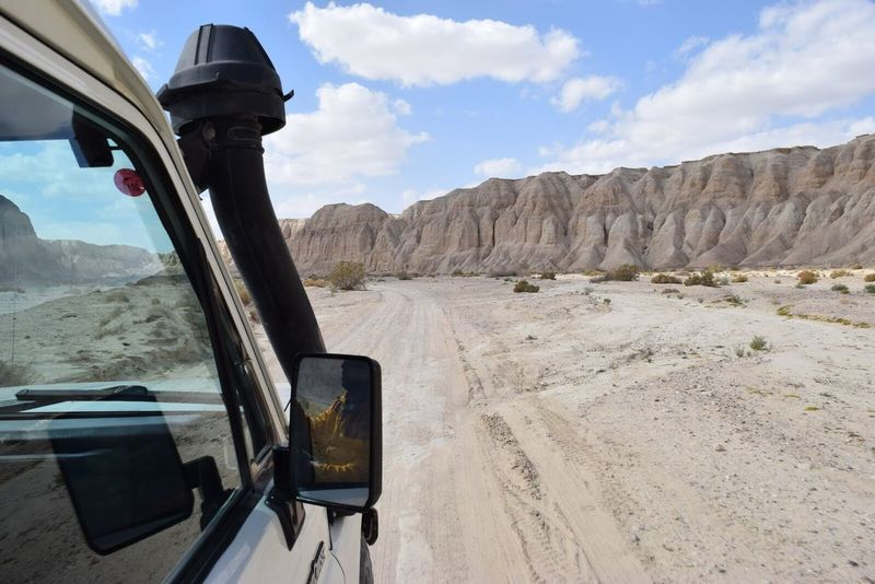 Feel The Journey Original Experiences Traveling Transportation Jeep Car Desert Deserts Around The World Driving View From The Window... Landscape Mountains Mountain Range Tranquil Scene Sky Adventure Journey Weekend Activities Cliff Desert Beauty Israel