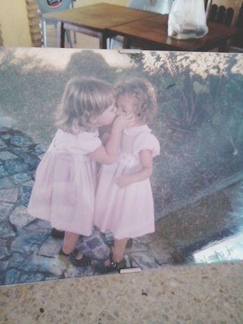 Sisters Kiss Pink Awww