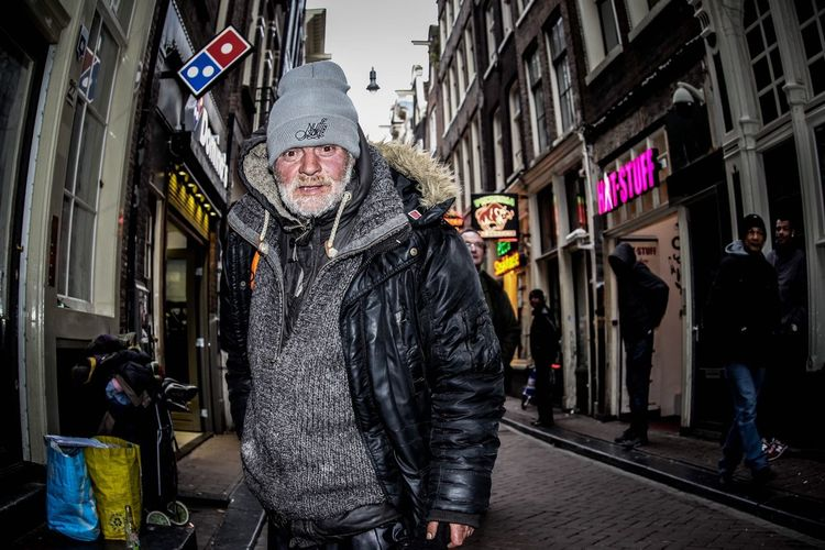 Streetphotography  Homeless Streetlife First Eyeem Photo Raw Amsterdamcity Canonphotography Story Warmoestreet Redlightdistrict Azizallach Lifeontheroad