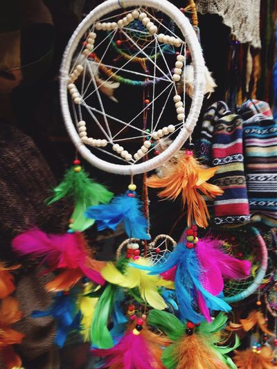 Dream Catcher Feathers Carnival Nepal Kathmandu Walking Around Local Market