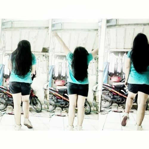My back ㅋㅋㅋGirls Shoot Photosoftoday Love Afternoon sunday longhair blue boots hotpants Tagsforlikes likeme likethis followme