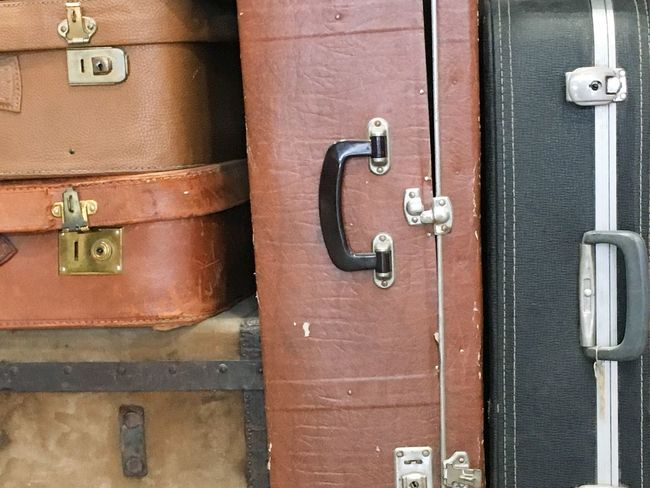 Leather Bag Close-up Freedom Full Frame Handle Handles Heavy Indoors  Lock Locks Metal Metallic No People Old Original Padlock Protection Safety Security Stacked Up Suitcase Travel Vertical Vintage