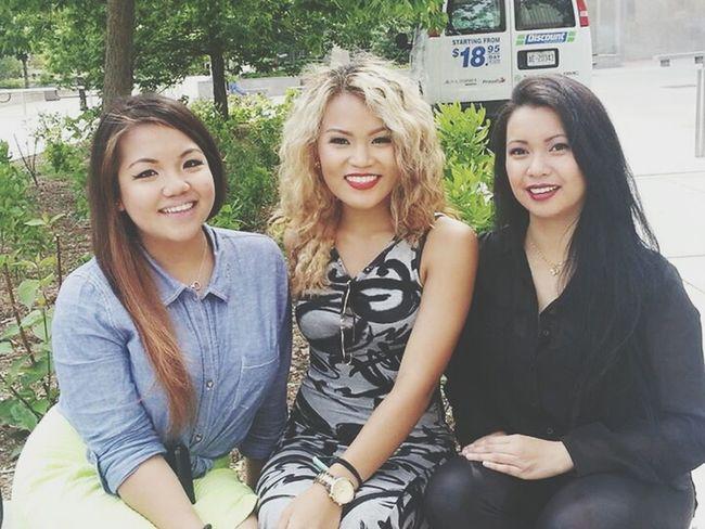 Girls Filipino Smiles Hanging Out