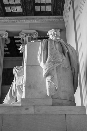 Lincoln memorial Washington Blackandwhite Monochrome Memorial Lincoln Memorial Statue President Washington, D. C. Architecture Building Exterior Close-up Built Structure