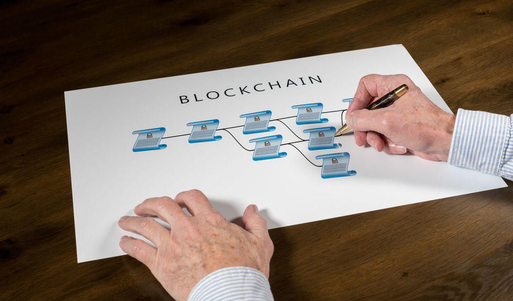Illustration of the blockchain technology of distributed secure ledgers that is behind the rise of cybercurrencies like bitcoin Currency Distributed Ledger Technology Banking Bitcoin Block Chain Blockchain Cryptocurrency Database Distributed Executive  Explanation Finance Illustration Ledger Schematic Technology