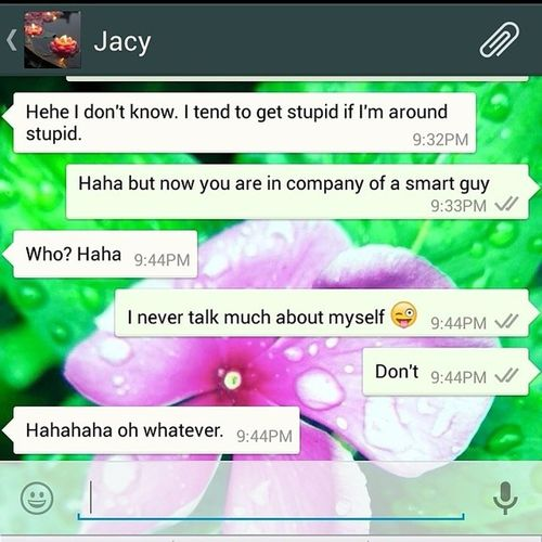 This girl will never agree that I'm smarter than her... Lol but I'm smart @jacy.singh ChatFriend Canadian Indian Buddy OldChatFriend