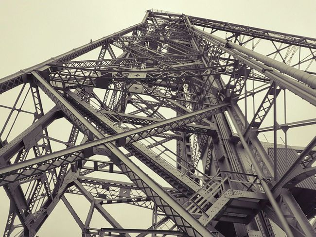 Bridge Sky Day Daytime Daylight Cloudy Filter Tall Vintage Old Metal Metal Beams Beams River Crossing