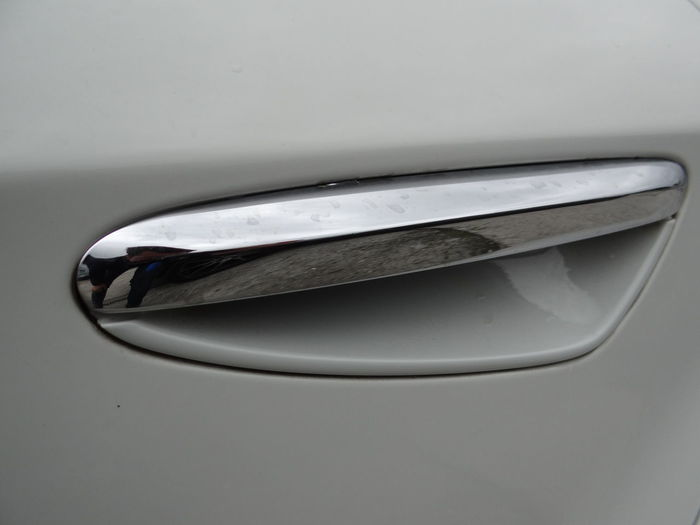 Close-up of car on table