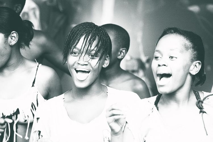 People Photography People Of EyeEm Street Photography Capture The Moment Monochrome Capetown Republic Of South Africa Singing Girls