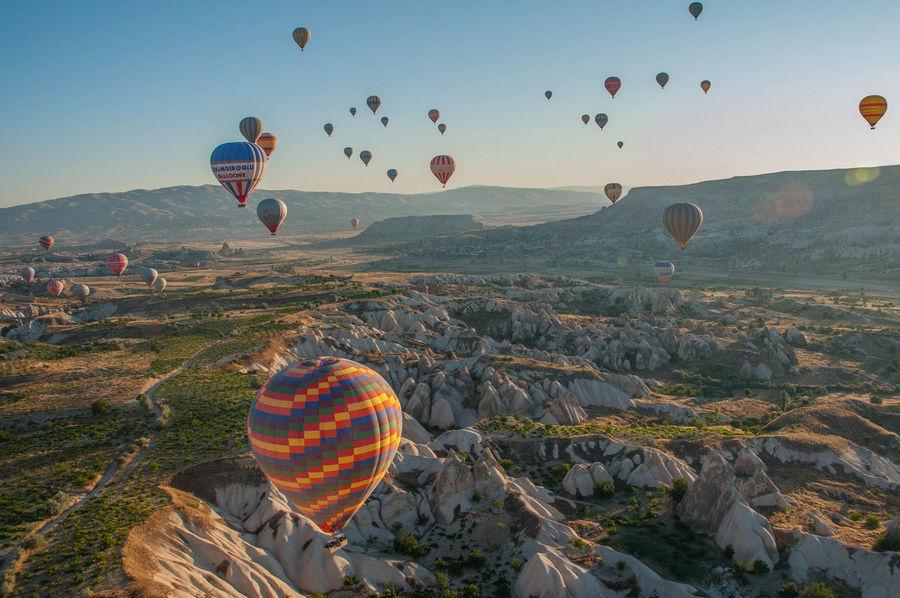 Breathtaking Cappadocia Daylight Hotairballoon Hotairballoons Landscape Sunny Turkey Traveling Photooftheday