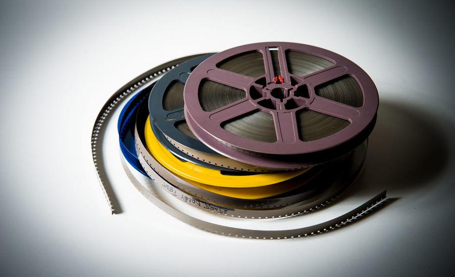 Vintage movie reel super 8 format filmstrip Celluloid Cinema Entertainment Film Filmstrips Heap MOVIE No People Old Pile Reel Reels Retro Roll Super 8 Vintage