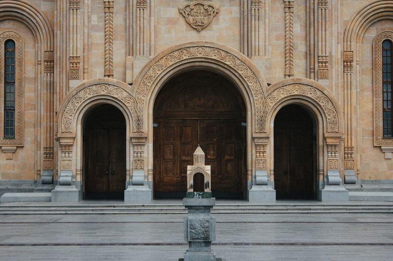 Tsminda Sameba, წმინდა სამება Symmetry Arch Travel Destinations The Past History Building Place Of Worship