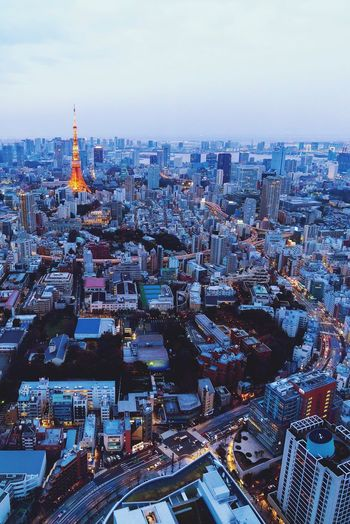 EyeEm Selects The Week On EyeEm Cityscape Architecture City Building Exterior Built Structure Travel Destinations Skyscraper Tower High Angle View Outdoors No People Tokyo Japan Urban Skyline Aerial View Day