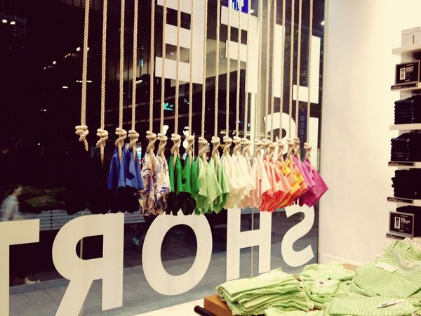 GAP@West.Nanjing Road Rainbow GAP!!! Visual Merchandising Shopping Taking Photos Shanghai, China Walking Around Colors Summer