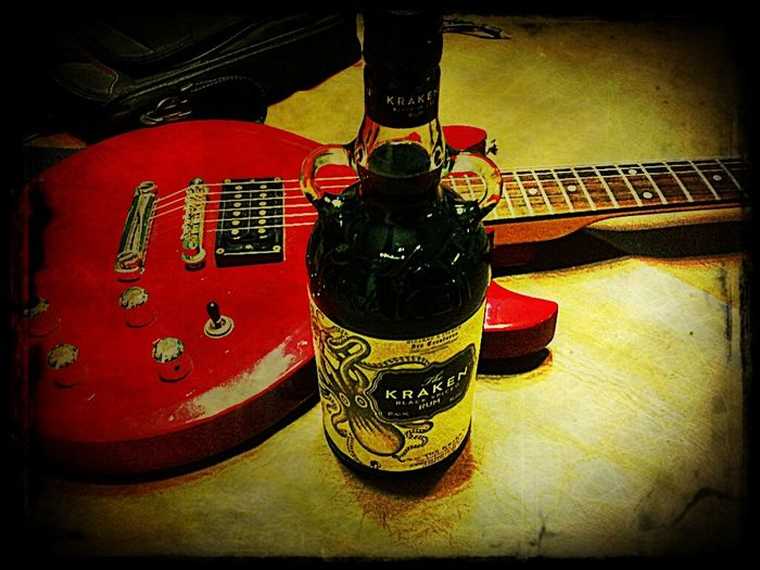 Rock'n Roll lifestyle... Music Guitar Alcohol Bottles RELEASETHEKRACKEN