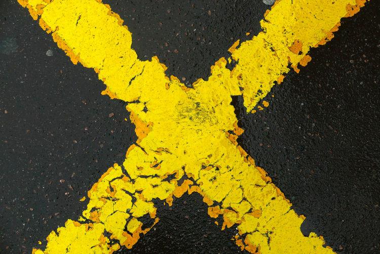 Full Frame Shot Of Road Marking