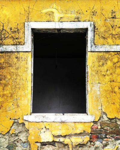 Yellow Old House Portugal Old Buildings Architecture Window Empty Places Old Building  Decadence Yellow Brick Wall Bricks'n'windows