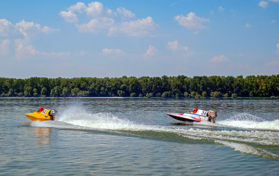Ryahovo, Bulgaria - 05 August , 2017. Powerboat competition start, Ryahovo village, Ruse district, Bulgaria Danube Speed Boat Bulgaria Championship Competition Peoplee Power Boats River Ruse Ryahovo The Photojournalist - 2018 EyeEm Awards The Street Photographer - 2018 EyeEm Awards
