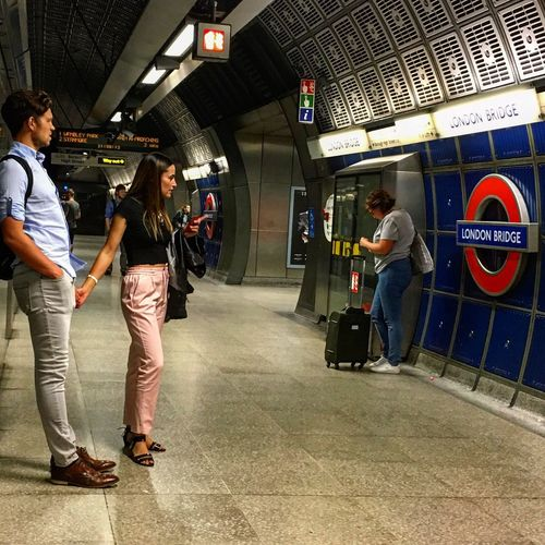 #LondonTube lovers travelling home Full Length Men Standing Indoors  Adult Transportation People Lifestyles Adults Only Young Adult London Underground London Underground Lovers Subway Train Day Adventures In The City The Street Photographer - 2018 EyeEm Awards The Street Photographer - 2018 EyeEm Awards #urbanana: The Urban Playground It's About The Journey It's About The Journey