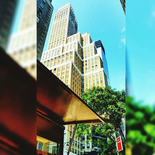 Building Exterior Modern Low Angle View Architecture Bryant Park NYCSky First Eyeem Photo EyeEmNewHere Nyclife Illuminated Arts Culture And Entertainment NYC LIFE ♥ Foodcarts