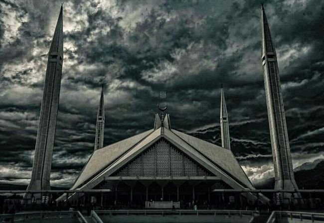 Built Structure Architecture Sky Day Cloud - Sky No People Outdoors Building Exterior Tree Nature IslamabadTheBeautiful Islamabad Pakistan FaisalMosque