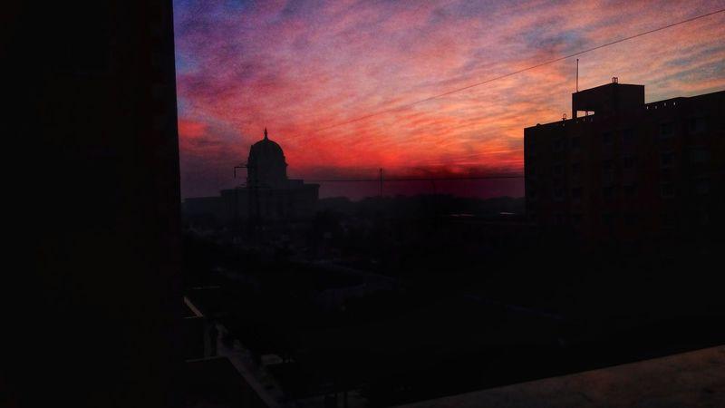 Sunrise Urban Skyline Sky No People Before_sunrises at Manipal University Jaipur PhonePhotography