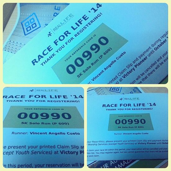 Ready na for RaceForLife '14 this coming November 29, 2014 at Roxas Boulevard. :) I'm so excited. Happiness Funrun Manila Victory 5kRun