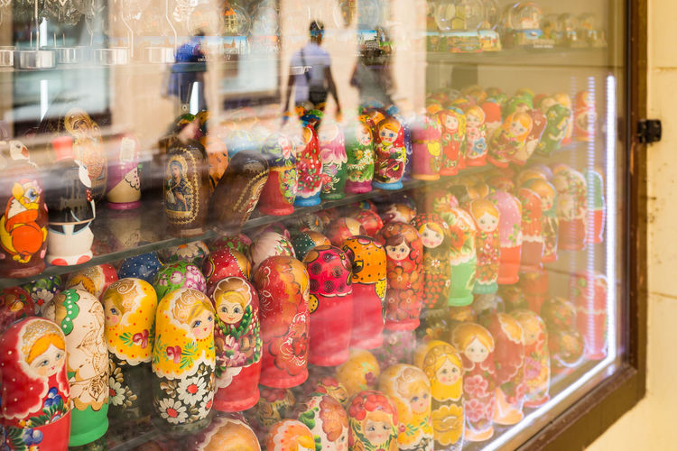 Little People City City Life Doll Prague Reflection Shopping Shops Sigma Canon Canonphotography Color Colour Colours Of Life For Sale Large Group Of Objects People Reflections Retail  Russian Dolls Sigma 35mm Art Still Life Store Streetphotography Toy Window
