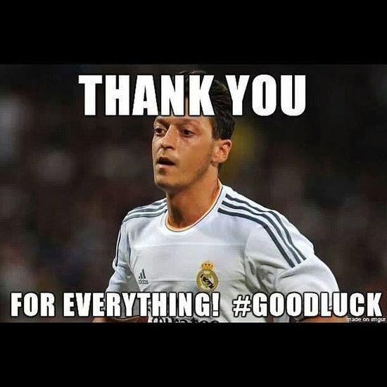 ADioooooooss Özil :(