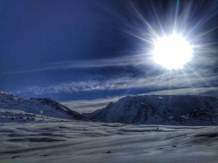 Snow Sun Sky Scenics Cold Temperature Mountain Nature