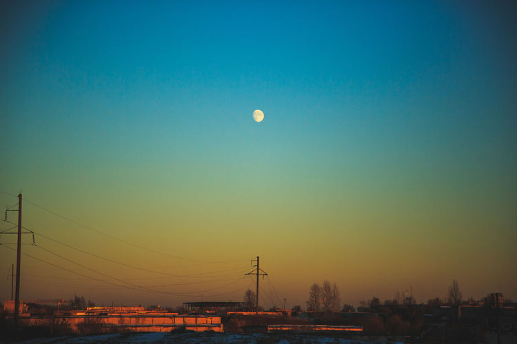 Dsk Moon Sunset Colour Your Horizn Sky Nature No People City Beauty In Nature Night Clear Sky Capture Tomorrow