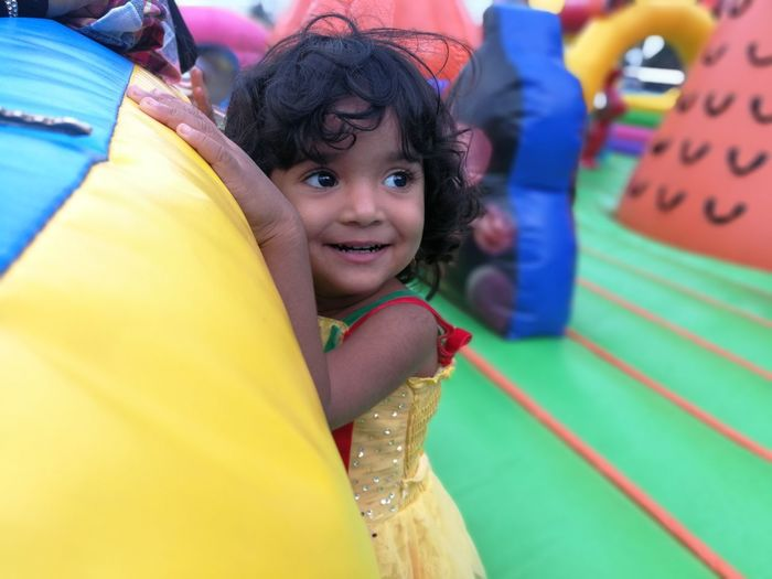 EyeEm Selects Child Portrait Smiling Multi Colored Happiness Cheerful Childhood Looking At Camera Friendship Girls