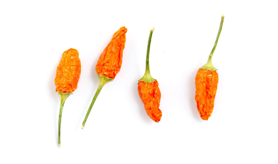 Chili Pepper Four Hot Red Hot Chili Peppers Chili  Close-up Food Food And Drink Freshness Healthy Eating No People Orange Color Studio Shot White Background White Color