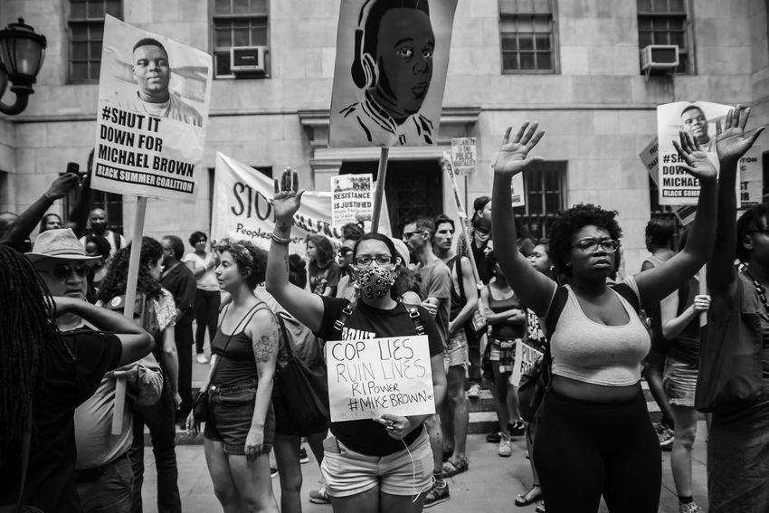 📷 Issakhari EyeEm Brooklyn, NY. 2015 Canon Blacklivesmatter Protest Mikebrown NYC NYC Street Photography City People Politics And Government Protestor Crowd