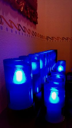 Prayer Candles Serenity Blue Open Edit