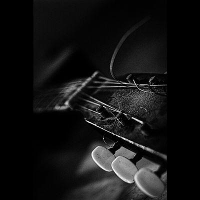 Blackandwhite Claunch 72 Monochrome Film Music Black And White BlacKeys SuperGrain Film BlacKeys B+W Film Guitar Photo Photography Low Light Series. Monochrome Bw Acoustic Hitam Putih